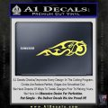 Indian Motorcycle Tribal Decal Sticker Yelllow Vinyl 120x120