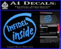 Infidel Inside Decal Sticker Light Blue Vinyl 120x97