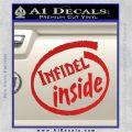 Infidel Inside Decal Sticker Red Vinyl 120x120