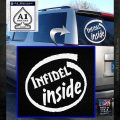 Infidel Inside Decal Sticker White Emblem 120x120