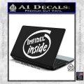 Infidel Inside Decal Sticker White Vinyl Laptop 120x120