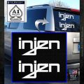 Injen Performance Intakes Logo Vinyl Decal Sticker White Emblem 120x120