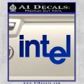 Intel Processors Decal Sticker Blue Vinyl 120x120