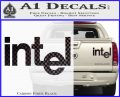 Intel Processors Decal Sticker Carbon Fiber Black 120x97