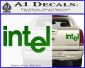 Intel Processors Decal Sticker Green Vinyl 120x97