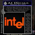 Intel Processors Decal Sticker Orange Vinyl Emblem 120x120