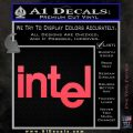 Intel Processors Decal Sticker Pink Vinyl Emblem 120x120