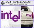 Intel Processors Decal Sticker Purple Vinyl 120x97