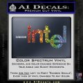 Intel Processors Decal Sticker Sparkle Glitter Vinyl 120x120