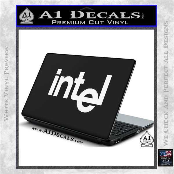 Intel Processors Decal Sticker White Vinyl Laptop