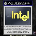 Intel Processors Decal Sticker Yelllow Vinyl 120x120