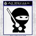 JDM Ninja Decal Sticker Cute Black Logo Emblem 120x120