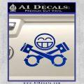 JDM Smiley Piston Decal Sticker Blue Vinyl 120x120