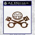 JDM Smiley Piston Decal Sticker Brown Vinyl 120x120