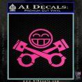 JDM Smiley Piston Decal Sticker Hot Pink Vinyl 120x120