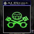 JDM Smiley Piston Decal Sticker Lime Green Vinyl 120x120