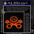 JDM Smiley Piston Decal Sticker Orange Vinyl Emblem 120x120