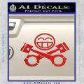 JDM Smiley Piston Decal Sticker Red Vinyl 120x120