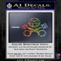 JDM Smiley Piston Decal Sticker Sparkle Glitter Vinyl 120x120
