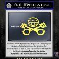 JDM Smiley Piston Decal Sticker Yelllow Vinyl 120x120