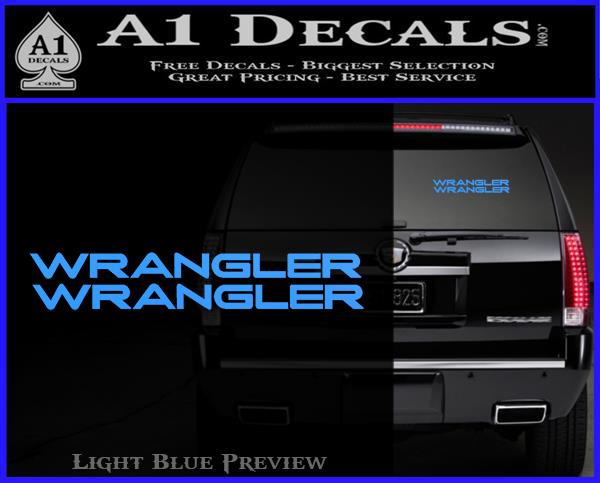 Jeep Wrangler Decal Sticker 2pk » A1 Decals