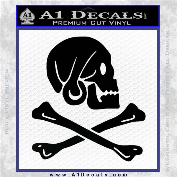 Jollly Roger Henry Every Crossbones Decal Sticker Black Logo Emblem