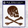 Jollly Roger Henry Every Crossbones Decal Sticker Brown Vinyl 120x120