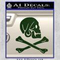 Jollly Roger Henry Every Crossbones Decal Sticker Dark Green Vinyl 120x120