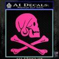 Jollly Roger Henry Every Crossbones Decal Sticker Hot Pink Vinyl 120x120