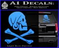 Jollly Roger Henry Every Crossbones Decal Sticker Light Blue Vinyl 120x97