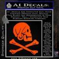Jollly Roger Henry Every Crossbones Decal Sticker Orange Vinyl Emblem 120x120