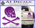 Jollly Roger Henry Every Crossbones Decal Sticker Purple Vinyl 120x97