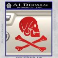 Jollly Roger Henry Every Crossbones Decal Sticker Red Vinyl 120x120