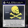 Jollly Roger Henry Every Crossbones Decal Sticker Yelllow Vinyl 120x120