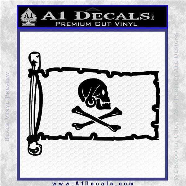 Jollly Roger Henry Every Pirate Flag INT Decal Sticker Black Logo Emblem