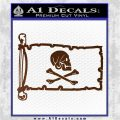 Jollly Roger Henry Every Pirate Flag INT Decal Sticker Brown Vinyl 120x120