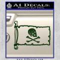 Jollly Roger Henry Every Pirate Flag INT Decal Sticker Dark Green Vinyl 120x120