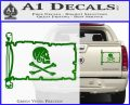 Jollly Roger Henry Every Pirate Flag INT Decal Sticker Green Vinyl 120x97