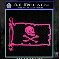 Jollly Roger Henry Every Pirate Flag INT Decal Sticker Hot Pink Vinyl 120x120