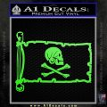 Jollly Roger Henry Every Pirate Flag INT Decal Sticker Lime Green Vinyl 120x120