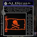 Jollly Roger Henry Every Pirate Flag INT Decal Sticker Orange Vinyl Emblem 120x120