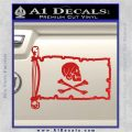 Jollly Roger Henry Every Pirate Flag INT Decal Sticker Red Vinyl 120x120
