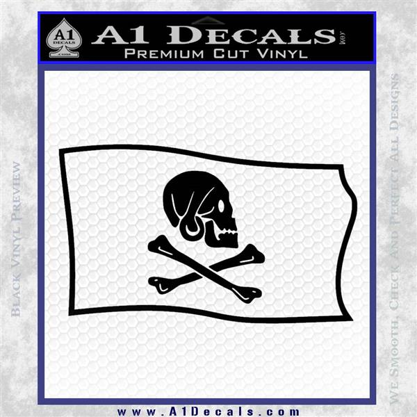 Jollly Roger Henry Every Pirate Flag SL Decal Sticker Black Logo Emblem