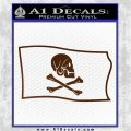 Jollly Roger Henry Every Pirate Flag SL Decal Sticker Brown Vinyl 120x120