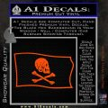 Jollly Roger Henry Every Pirate Flag SL Decal Sticker Orange Vinyl Emblem 120x120