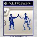 Jolly Roger Black Bart Crossbones D1 Decal Sticker Blue Vinyl 120x120