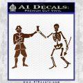 Jolly Roger Black Bart Crossbones D1 Decal Sticker Brown Vinyl 120x120
