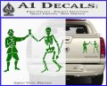 Jolly Roger Black Bart Crossbones D1 Decal Sticker Green Vinyl 120x97