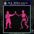 Jolly Roger Black Bart Crossbones D1 Decal Sticker Hot Pink Vinyl 120x120