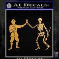 Jolly Roger Black Bart Crossbones D1 Decal Sticker Metallic Gold Vinyl 120x120